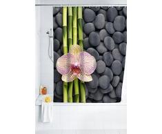 WENKO 20959100 Cortina de ducha SPA - tejido textil de alta calidad, lavable, Poliéster, Multicolor