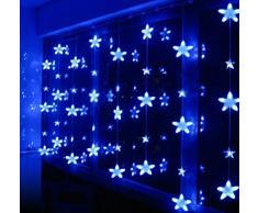 minetom estrella cortina de luz de hadas de la secuencia brillante iluminacin led luces para