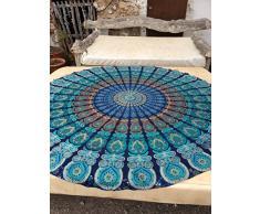 Dermier chiffon Mantel Mandala redondo de poliéster con diseño Hippy