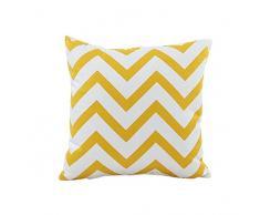 Sannysis Cojín Throw fundas de almohada Sofá decorativo ondulada Fundas de colchón (Amarillo)