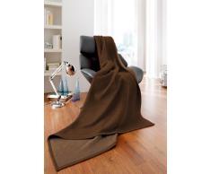 Bocasa Biederlack - Manta para cama (algodón, 150 x 200 cm), color marrón