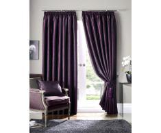 Seda de imitación lino cortinas - o cama de matrimonio Scatter Box cortinas con forro plisadas morado (morado) 90 x 182,88 cm