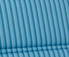 Kettler 0309003-8711 - Cojín para taburete de jardín (aluminio y textil, 50 x 50 x 3 cm), diseño de rayas, color azul