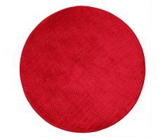 Le Jardin Des Cigales alfombra redondo, poliéster, rojo, 90 x 90 cm
