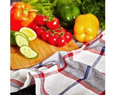 Lumaland Paños de cocina Serie Santorini en cuatro colores. 4 piezas por juego.100 % Algodón 50 x 70 cm Verde