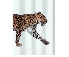 Spirella 180 x 200, Marrón colección Leopard, Cortina de Ducha Textil, 100% Polyester