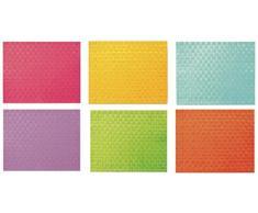 Villa DEste Modern Juego de 6 Manteles Individuales de Plástico, Varios Colores