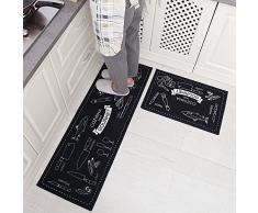 2 pieza antideslizante alfombrillas de goma Felpudo Felpudo alfombra de cocina MyLifeUNIT Set (40 x 120 cm + 40 x 60 cm)