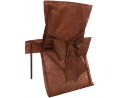 Fiestas y Decoración - Cubre Sillas 10 con arco - chocolate