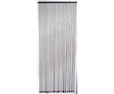 5500092 - Cortina decorativa para puerta - cuentas de madera - 90 x 220 cm, (puede reducirse) - marrón