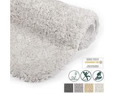 Beautissu Alfombrilla de baño de felpilla Antideslizante BeauMare FL Blanco - 120 x 70 cm - WC Alfombra de baño mullida Suave para Ducha, bañera e Inodoro también Adecuado para Suelo Radiante.