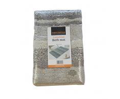 Tony 's Textiles – 100% algodón Heavy Weight Tonal Stripe Natural alfombra de alfombrilla de baño (estándar)