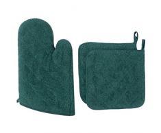 100% algodón diario cocina básica resistente al calor manopla para horno y agarradera para juego de