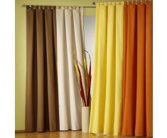 Fashion-and-Joy - Cortina opaca (de microfibra, con superficie plisada y ojales de tela), disponible en varios colores