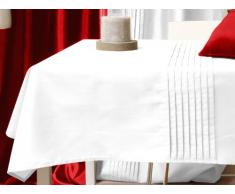 Soleil docre - Mantel rectangular, color blanco
