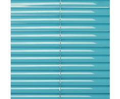 Liedeco - Persiana de aluminio, de Blue Lagoon, metal, azul, 120X160 CM
