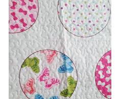 ForenTex- Colcha Boutí reversible, (S-2642), cama 90 y 105 cm, 190 x 260 cm, +1 cojín, Estampada cosida, lacitos rosa, mandalas rosa, colcha barata, set de cama, ropa de cama. Por cada 2 colchas o mantas paga solo un envío (o