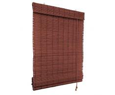 Victoria M. Persiana Enrollable de bambú - fijación sin taladrar (Klemmfix) - Estor de bambú - 90 x 160 cm, Color Cereza