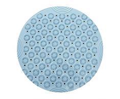 LinZX Alfombrilla Alfombra Antideslizante de PVC Ducha Estera del resbalón Estera Redonda Masaje de Drenaje sostenible baño de Alfombra,Blue