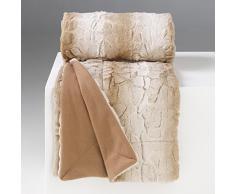Douceur dIntérieur - 1605142, Manta, 127 X 152 Cm, Siberie, Imitación Piel, Beige