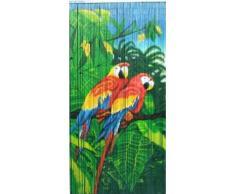 Doble Parrot bambú cortina de cuentas