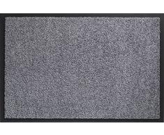 ID mate 608005 Mirande alfombra Felpudo fibra nylon/PVC recubrimiento 80 x 60 x 0,9 cm, gris, 60 x 80 cm