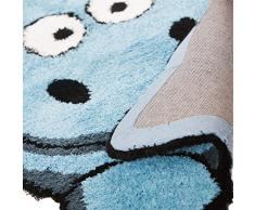 Childrens Cute & suave de peluche Animal infantil – Alfombra para Kid 's dormitorio/sala de juegos, poliéster, azul, 60x90 cm
