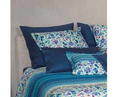 Bassetti Granfoulard.- Conjunto de funda nordica Sangallo V3 azul para cama de matrimonio (4 piezas)