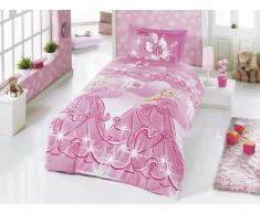 Zirvehome - Juego de ropa de cama infantil (135 x 200 cm y 80 x 80 cm), diseño de princesas