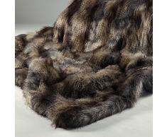 Manta de piel sint tica compra barato mantas de piel - Mantas de piel ...
