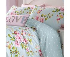 Catherine Lansfield Canterbury - Juego de funda nórdica para cama de 105 cm