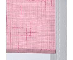 DECORACION NUEVO ESTILO-Estor enrollable ISABELA en tejido translucido de color 02 Rosa fuxia, medida 130 x 175 (varias medidas y colores)