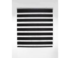 Blindecor Lira Estor Enrollable de Doble Capa, Noche y Día, Poliéster, Negro, 100 x 180 cm (ancho x largo)