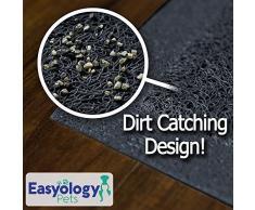 Easyology Alfombra para gatos, tamao sper grande, suave al tacto Gris (slate gray)