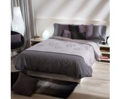 Sancarlos - Funda nordica estampada diseño hoja gris - 3 piezas - bajera ajustable - varias tallas disponibles