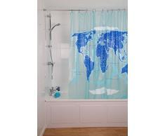 Croydex - Cortina de ducha, diseño de mapamundi