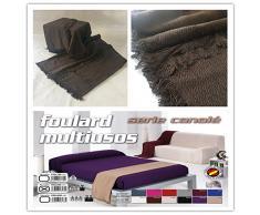 COLCHAS MULTIUSOS/CUBRE CAMA/SOBRE CAMA/MANTA Liso Para SOFÁ 2 PLAZAS O CAMA 90-110cm (180 x 260 cm, WENGUE)