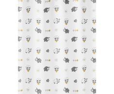 Kleine Wolke 5130148305 Sheep - Cortina de ducha (180 x 200 cm), diseño de ovejas, multicolor