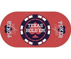"Tapete Poker Antideslizante Oval ""Texas hold´em"" PVC 180 cm x 90 cm | Tapete poker mesa PVC | Tapete vinilico para mesas | Poker ""Texas hold´em"""