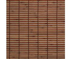 Madera con estor enrollable, madera enrollable para ventanas y puertas braun B L 160 cm x 170 cm