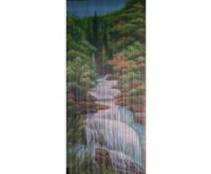 Mountain Stream bambú cortina de cuentas