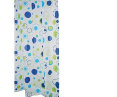 Ridder 303080 Kreise - Cortina de ducha con estampado (180 x 200 cm), color blanco con círculos