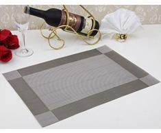 Alta calidad PVC aislamiento comedor placemat- comedor manteles individuales para mesa calor aislamiento resistente a las manchas estilo sencillo comer estera - juego de 4