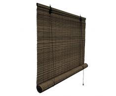 Victoria M. - Klemmfix Persiana Estor de bambú para Interiores 70 x 220 cm, Color marrón Oscuro - Montaje sin perforación