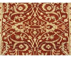 Alfombra de lana hechos a mano Camino de William Morris, óxido, 83 x 191 cm, 60,96 cm 22,86 cm X cm 182,88 7,62 cm (M)