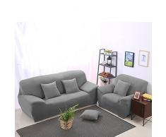 UEETEK 3-plazas de alta elasticidad Silla anti-ácaros Cubiertas Sofá Cover Sofá Funda(gris)