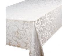 Home Creations Premier Cadiz - Mantel rectangular (132 x 228,6 cm), color blanco
