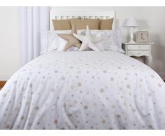 Tiendas Mi Casa - Funda Nórdica Reversible Estrellas (Cama 90 cm (150x220 cm), Beige). Disponible en Varios tamaños y Colores.