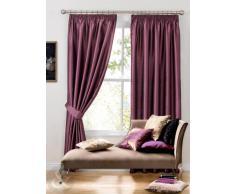 Cortina de seda sintética - Plain plisadas Cortinas con anillas y forro morado cortina 46 x 137,16 cm