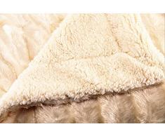 ForenTex - Manta VISÓN, (L-3048 ROSA) 220 x 240 cm, 2,05 kg, Cara Exterior imitación Visón, cara interior de borreguillo en el mismo color para abrigarte con estilo y confort. Para sofá y cama. 1-4 mantas paga solo un envío,
